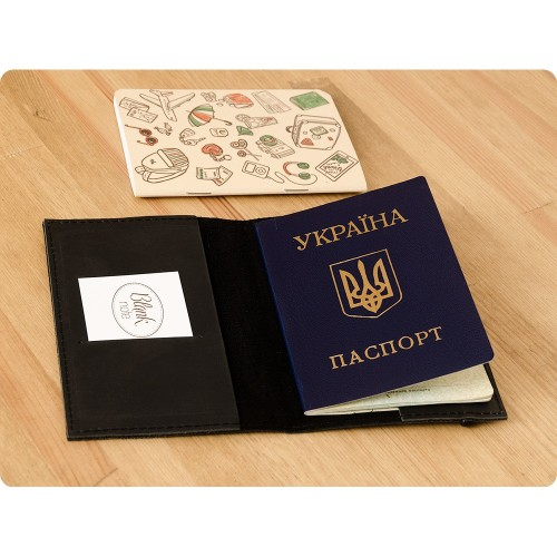 Кожаная обложка на паспорт 1.0 Графит-3