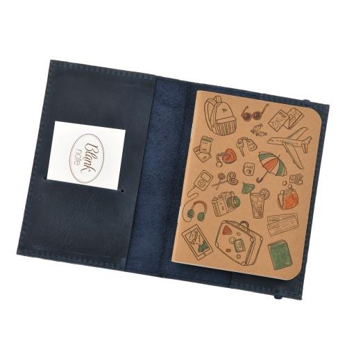 Кожаная обложка на паспорт 1.0 Ночное небо-3