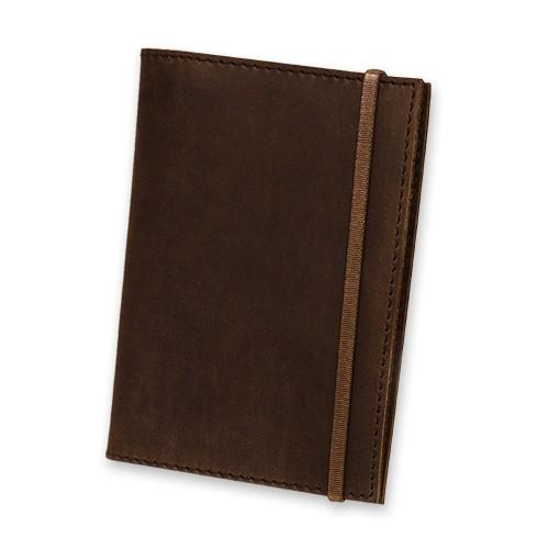 Кожаная обложка на паспорт 1.0 Орех