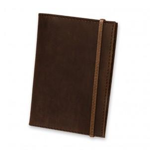Кожаная обложка на паспорт 1.0 Орех-1