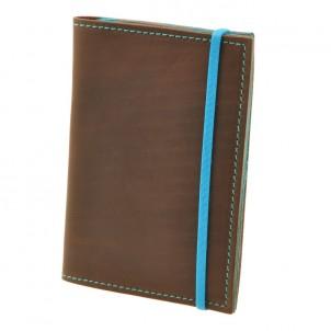 Кожаная обложка на паспорт 2.0 Орех-Тиффани и блокнотик-1
