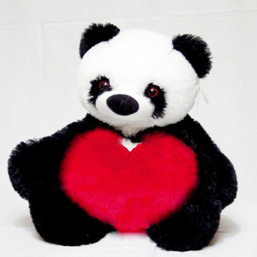 Мишка Панда с сердцем 77 см.