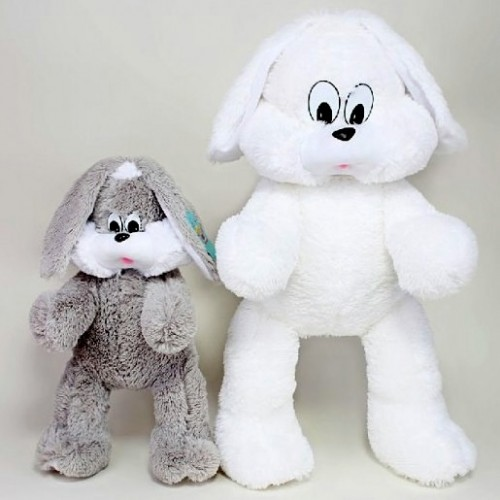 Заяц Снежок 100 см.-2