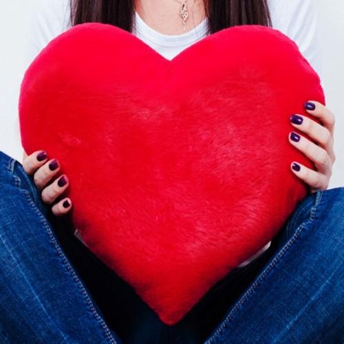 Плюшевая подушка сердце 50 см.-1