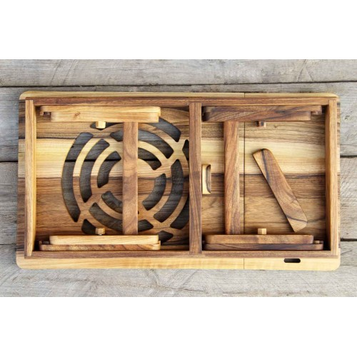 """Деревянная охлаждающая подставка-столик под ноутбук """"Laptop iDesk""""-2"""