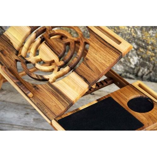 """Деревянная охлаждающая подставка-столик под ноутбук """"Laptop iDesk""""-4"""