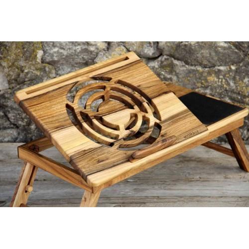 """Деревянная охлаждающая подставка-столик под ноутбук """"Laptop iDesk""""-5"""