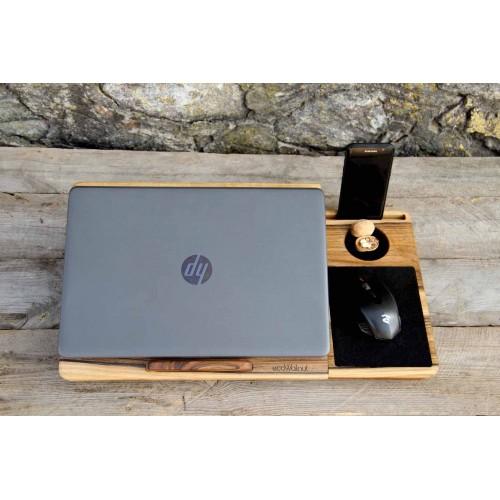 """Деревянная охлаждающая подставка-столик под ноутбук """"Laptop iDesk""""-7"""