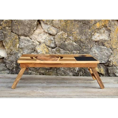 """Деревянная охлаждающая подставка-столик под ноутбук """"Laptop iDesk""""-3"""