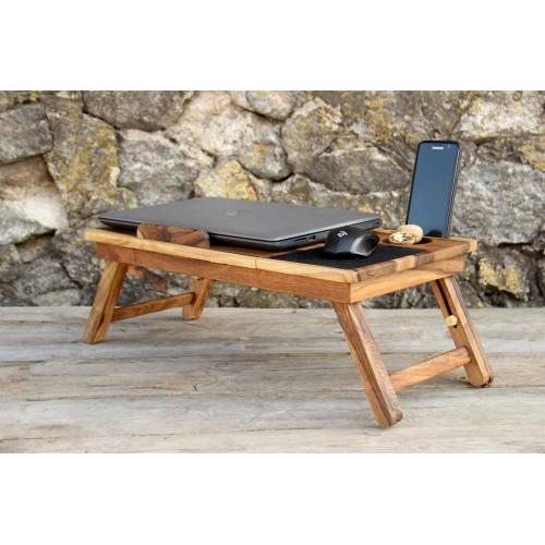 """Деревянная охлаждающая подставка-столик под ноутбук """"Laptop iDesk""""-6"""