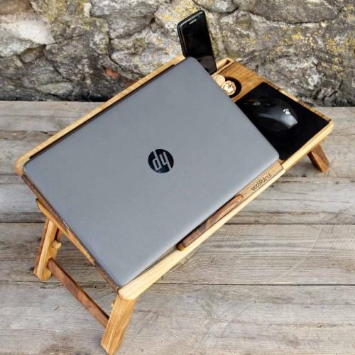 """Деревянная охлаждающая подставка-столик под ноутбук """"Laptop iDesk""""-1"""