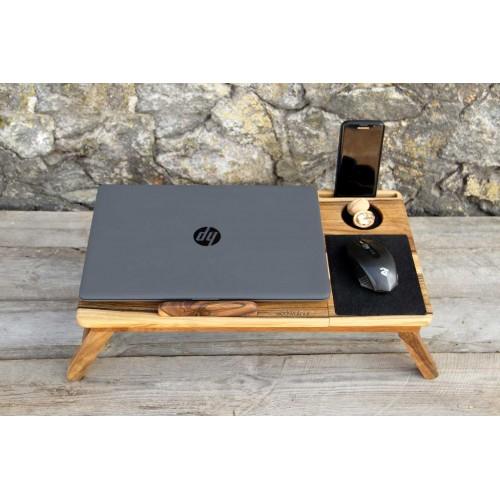 """Деревянная охлаждающая подставка-столик под ноутбук """"Laptop iDesk""""-8"""