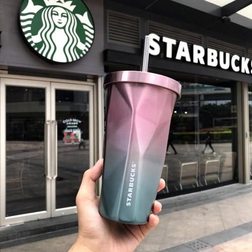 Металлический стакан Starbucks Duos с крышкой и трубочкой-3