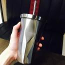 Металлический стакан Starbucks Silver с крышкой и трубочкой-2