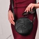 Кожаная сумка Бон-Бон Графит-7