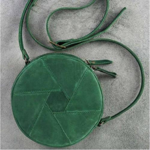 Кожаная сумка Бон-Бон Изумруд-1