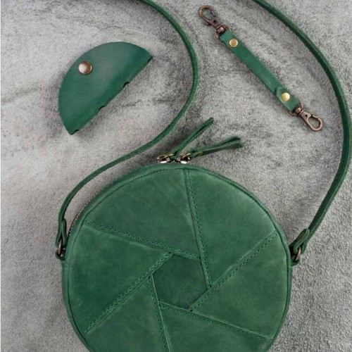 Кожаная сумка Бон-Бон Изумруд-2