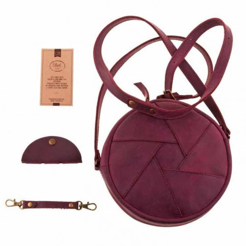 Кожаная сумка Бон-Бон Виноград-3