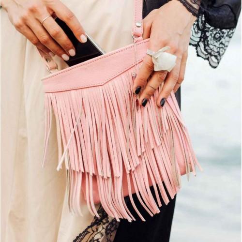 Кожаная сумка мини-кроссбоди Fleco Барби