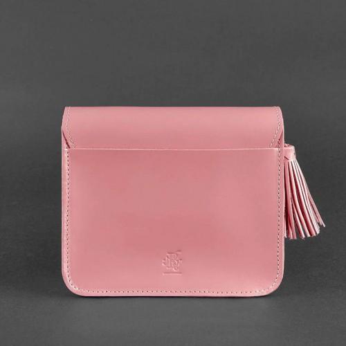 """Кожаная бохо-сумка """"Лилу"""" Розовый персик-3"""