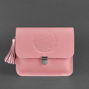 """Кожаная бохо-сумка """"Лилу"""" Розовый персик-1"""
