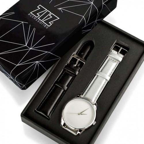 Часы наручные Минимализм Металлик Серый Серебро + дополнительный ремешок-3