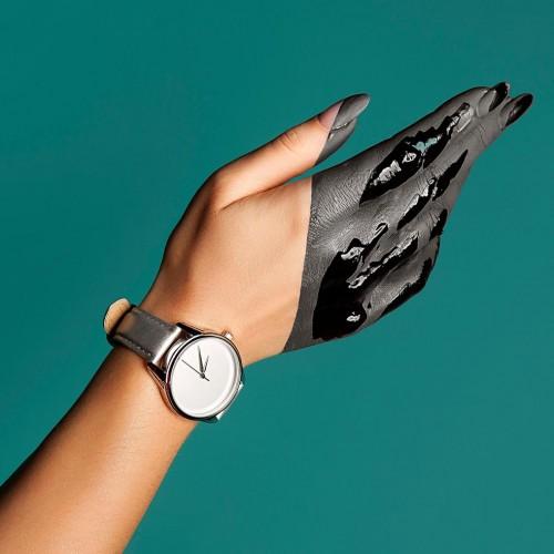 Часы наручные Минимализм Металлик Серый Серебро + дополнительный ремешок-5
