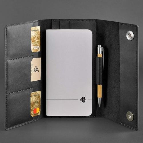 Кожаный блокнот софтбук 5.0 Графит Crazy Horse-4