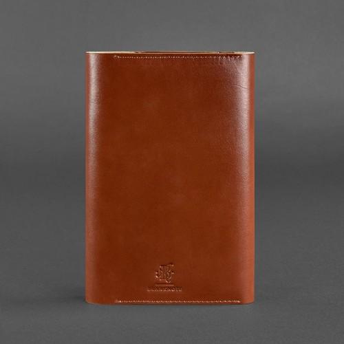 Кожаный блокнот софтбук 5.0 Коньяк Krast-2