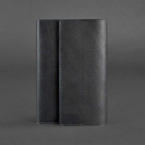 Кожаный блокнот софтбук 5.1 Графит Krast-1