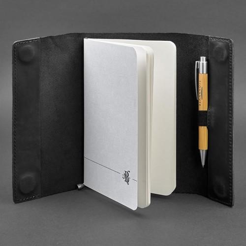 Кожаный блокнот Софтбук 7.0 Графит Crazy Horse-4