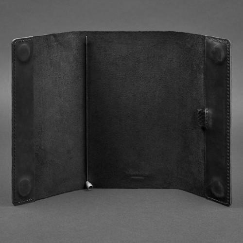 Кожаный блокнот Софтбук 7.0 Графит Crazy Horse-3