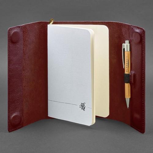 Кожаный блокнот софтбук 7.0 Виноград Krast-3