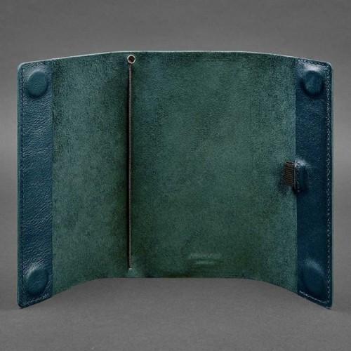 Кожаный блокнот софтбук 7.0 Малахит Krast-3