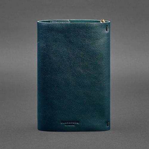 Кожаный блокнот софтбук 7.0 Малахит Krast-4
