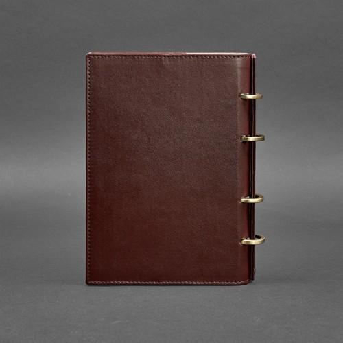 Кожаный блокнот на кольцах 9.0 в твердой обложке Виноград-2