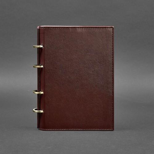 Кожаный блокнот на кольцах 9.0 в твердой обложке Виноград-1