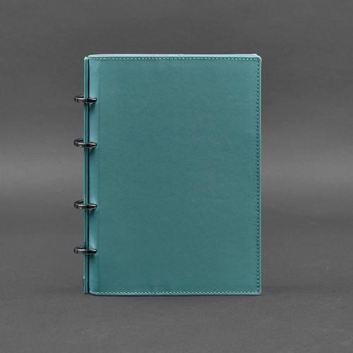Кожаный блокнот на кольцах 9.0 в твердой обложке Тиффани-1