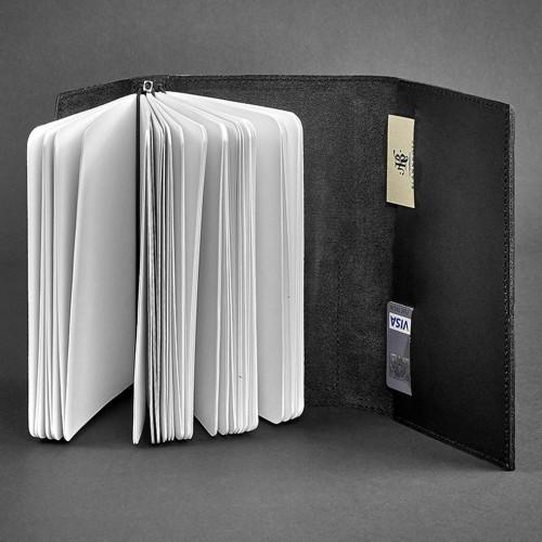 Кожаный блокнот (софтбук) 2.0 Графит-2