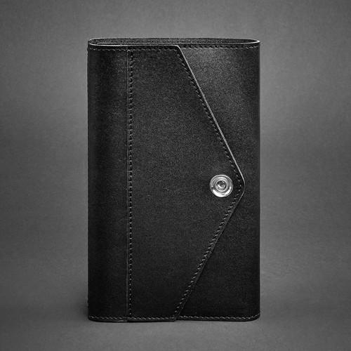Кожаный блокнот (софтбук) 2.0 Графит-1