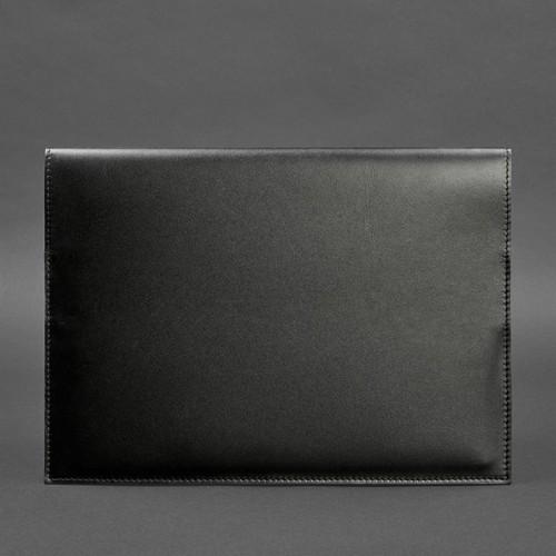 Кожаная папка для документов А4 на магнитах Графит - Черная-3