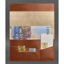 Папка для документов на магнитах из натуральной кожи Krast Коньяк (Рыжая)-3