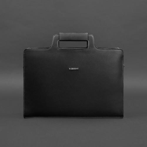 Деловая сумка для ноутбука и документов Графит - Черная