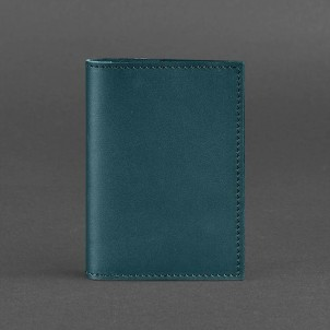 Кожаная обложка на паспорт 1.2 Малахит-1