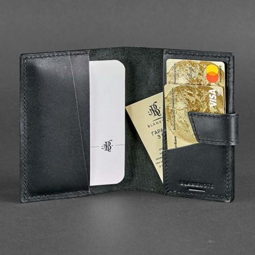 Кожаная обложка на паспорт 4.0 Графит-3