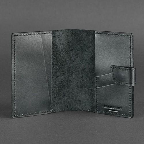 Кожаная обложка на паспорт 4.0 Графит-4