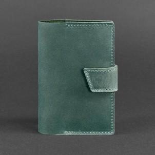 Кожаная обложка на паспорт 4.0 Изумруд-1