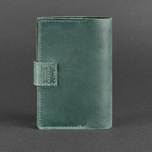 Кожаная обложка на паспорт 4.0 Изумруд-2