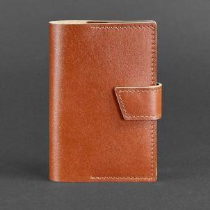 Кожаная обложка на паспорт 4.0 Коньяк-1