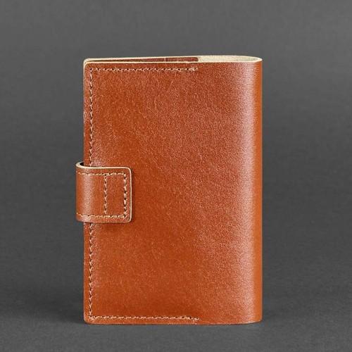 Кожаная обложка на паспорт 4.0 Коньяк-2